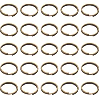 BronaGrand 200 Pieces 10mm Small Bronze Key Chain Rings Split Ring Key Chains for Keys Organization