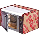 Amazon Brand - Solimo PVC 30 Litre Microwave Oven Cover, Leaf, Red