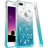 wlooo iPhone 8 Plus Hülle Glitzer, Handyhülle iPhone 7 Plus, Flüssig Treibsand Glitter Gradient Quicksand Weich TPU…