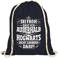 ShirtStreet Fanartikel Fan Kult Film natur Turnbeutel Rucksack Gymsac Außerhalb von Hogwarts