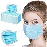 كمامة لحماية الوجه، 50 قطعة - ازرق فاتح