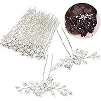 Czemo 42 pezzi Forcine per Capelli Perle Sposa Forcine Fermagli per Capelli con Strass Cristalli Perni di Capelli…