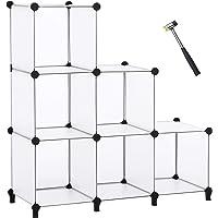 ANWBROAD Organiseur de rangement en forme de cube 6 cubes de bricolage modulaire Armoire de rangement étagère de…
