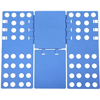 SONGMICS® Pullover Hosen faltbrett Falthilfe Einstellbar Wäschefaltbrett Hemdenfalter 57,5 x 69,5 cm blau LCF101