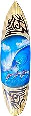 Seestern Sportswear Deko Holz Surfboard 60 cm lang Airbrush Design Surfing Surfen Wellenreiten Surf DK1667_Surfboard_60cm