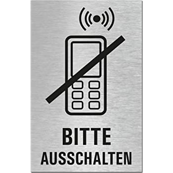 2er-Set Nr.28008-S Ziehen Dr/ücken 160x40 mm Aluminium Edelstahlschilder-Optik T/ürschild