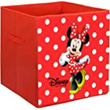 Kuber Industries Disney Minnie Print Non Woven Fabric Foldable Large Size Storage Cube Toy,Books,Shoes Storage Box with Handl