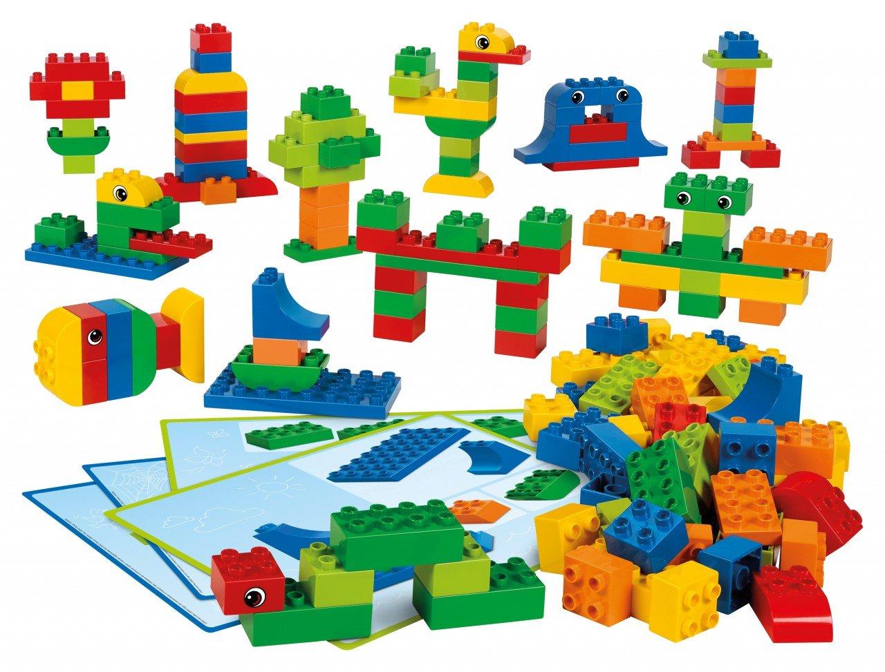 Lego Ideen.Lego Duplo Grundelemente 160 Bausteine 6 Doppelseitige Baukarten Mit Ideen Und Anleitungen Für Kinder Von 3 5 Jahren Radau Pigiau