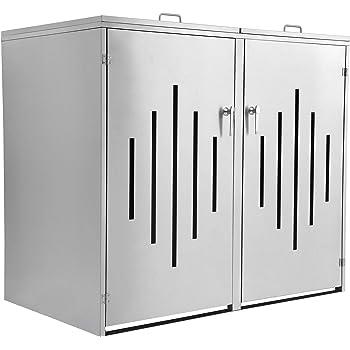 m lltonnenbox metall f r 2 m lltonnen mit klappdeckel anthrazit garten. Black Bedroom Furniture Sets. Home Design Ideas