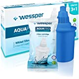 WESSPER® Caraffa filtrante per l'acqua, universale, alcalinizzante, a carbone attivo, timer elettronico, adatta per frigorife