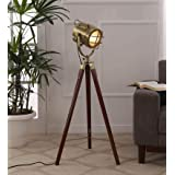 Simona Decorative Antique Tripod Floor Lamp