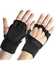 Sportneer Fitness Gym Gloves with Wrist Support Grip and Breathable Glove Design Used for Weight Lifting, Pull Up, Crossfit, Cycling, Driving, Fitness, Gym Training