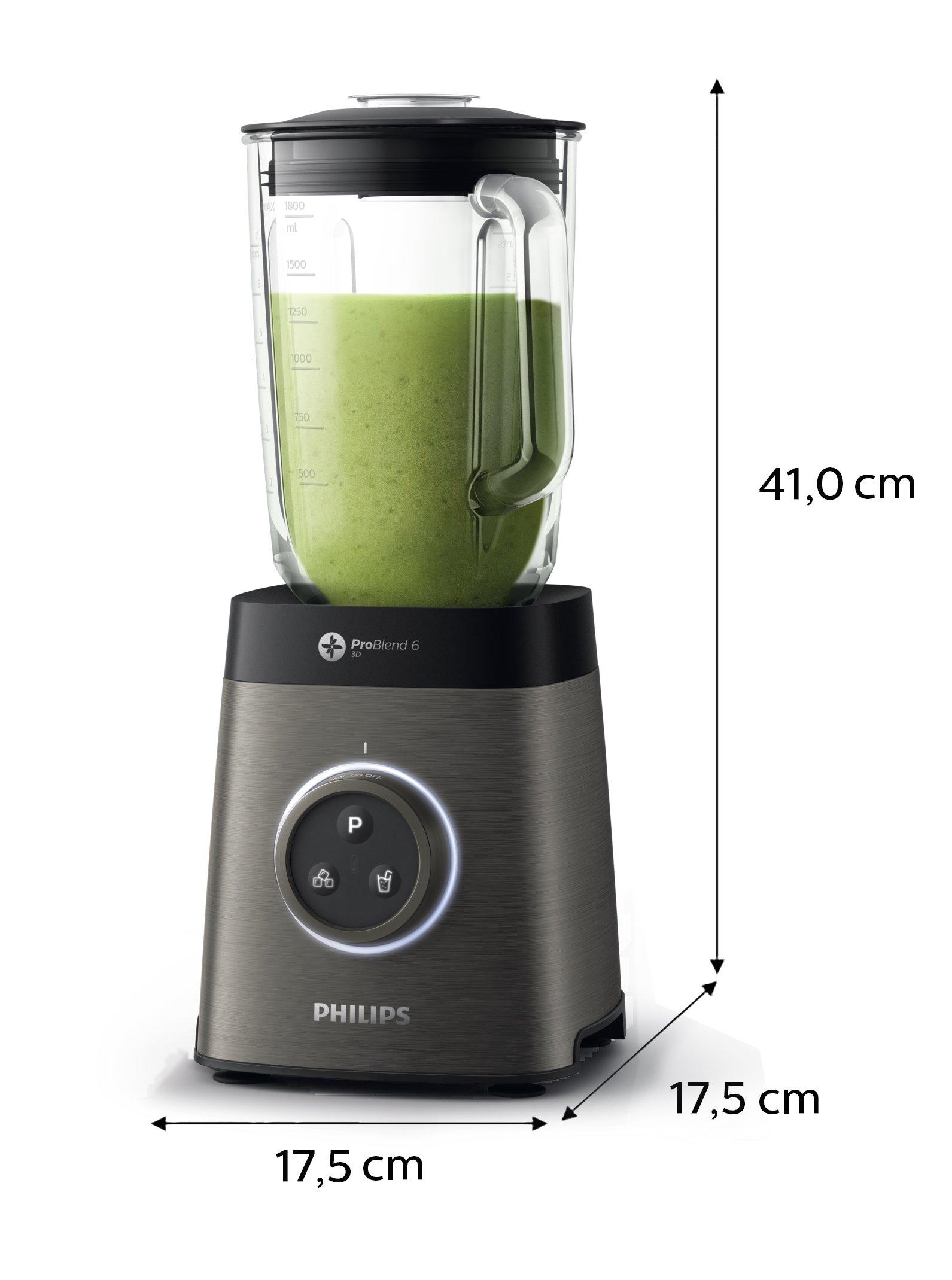 Philips-HR365790-HochleistungsmixerPremium-Smoothie-Maker-1400-Watt-50-feinere-Mixergebnisse-titanium