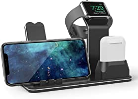 SETROVIC 3In1 Premium Pure Aluminum Charging Stand,Support Night Stand Mode, Compatible With Apple Watch Series...