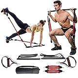 Verstelbare weerstandsband voor dames en heren, kniebuigingen en zitspieren, draagbaar, voor thuis, gymnastiek, yoga, pilates