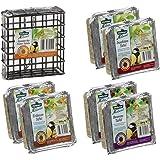 Dehner Natura Alimentation pour Oiseaux Sauvages avec Distributeur, 7 pièces