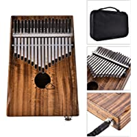Muslady Kalimba , Thumb Piano , Mbira , 17 Keys EQ Solid Acacia Link Speaker Electric Pickup Muspor with Bag Cable…