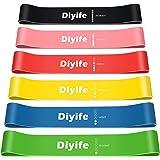 Diyife Bandas Elasticas Fitness, [Set de 6] Bandas de Resistencia, Elasticas Musculacion Cintas Elásticas Fitness para Entren