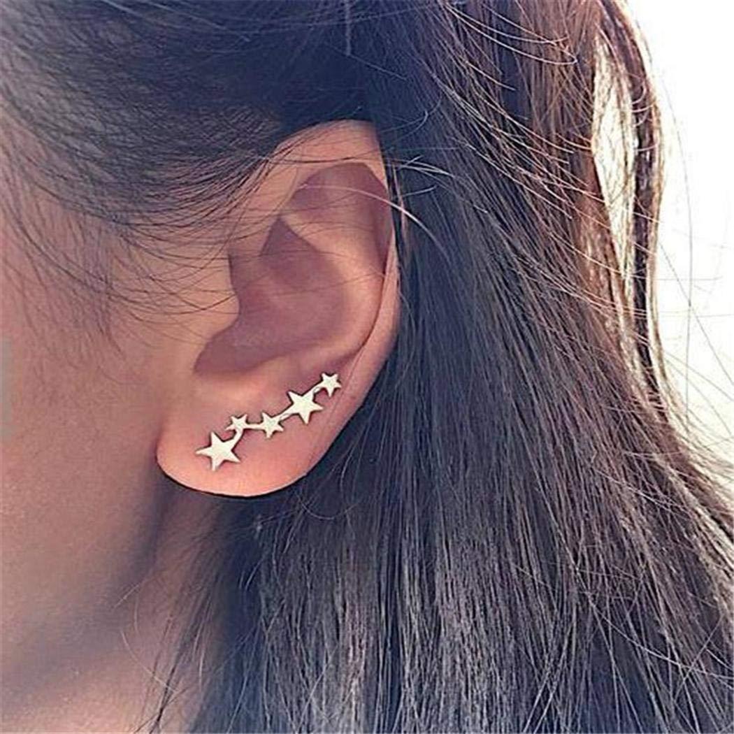 ULTREY Women Fashion Hook Fastening Star Shape Earrings Earrings
