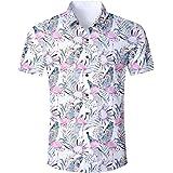 ALISISTER Camisa Hawaiana Hombre Estampado en 3D Botón Informal Abajo Playa Camisa Manga Corta Aloha de Vacaciones Camiseta F