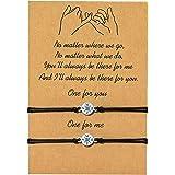 Gvusmil, 2 braccialetti Pinky Promise per coppie, migliore amica, sorelle a lunga distanza, braccialetti dell'amicizia regola
