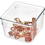منظم ادوات مائدة بلاستيكي لادراج المطبخ من اي ديزاين لينس، حافظة تخزين مقسمة للاواني الفضية، والملاعق والادوات، 3.8 انش × 10.