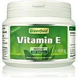 Greenfood Vitamin E, 400 iE, natürlich, 120 Softgel-Kapseln – schützt die Zellen vor vorzeitiger Alterung (Anti-Oxidant). OHNE künstliche Zusätze. Ohne Gentechnik.