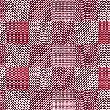 (6,29€/m) Weichschaummatte Antirutschmatte Badezimmermatte Sicherheit Badvorleger Badezimmer WC Meterware - Küche 65cm breite | Farbe :Karo rot/weiß 450-4