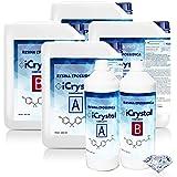 3.2 KG RESINE EPOXY TRANSPARENTE - iCrystal Bestseller de créations artistiques et de bijoux, de réparation ou de revêtements de surface