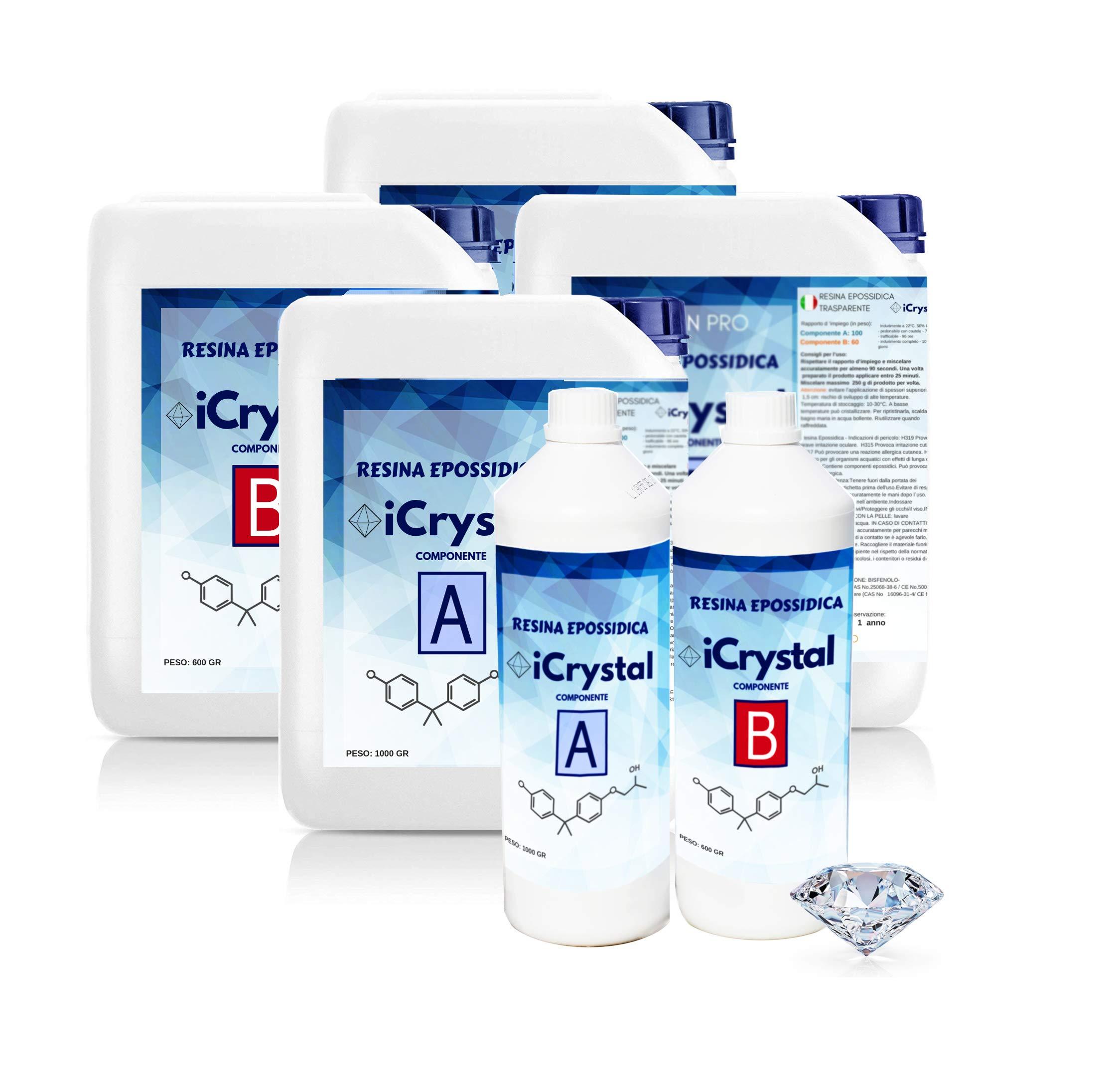 Resin-Pro-32-kg-Resina-EPOSSIDICA-Ultra-Trasparente-bi-Componente-per-Fai-da-Te-e-Bricolage