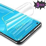 RIWNNI [3 Stück Schutzfolie für Xiaomi Mi 10/Mi 10 Pro, Ultra Dünn Weiche TPU Displayschutzfolie (Nicht Panzerglas), HD Klar Displayschutz Folie Full Screen für Xiaomi Mi 10/Mi 10 Pro - Transparent