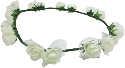 Loops n Knots Pataka Collection White Tiara/Crown/Headband for Girls & Women -Hair Accessories for Birhday,Party & Wedding