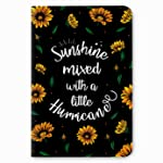 "Factor Notes Journal Diary Notebook Ruled - Sunshine Mixed with a Hurricane - (B6/5"" x 7""/12cm x 18cm)"