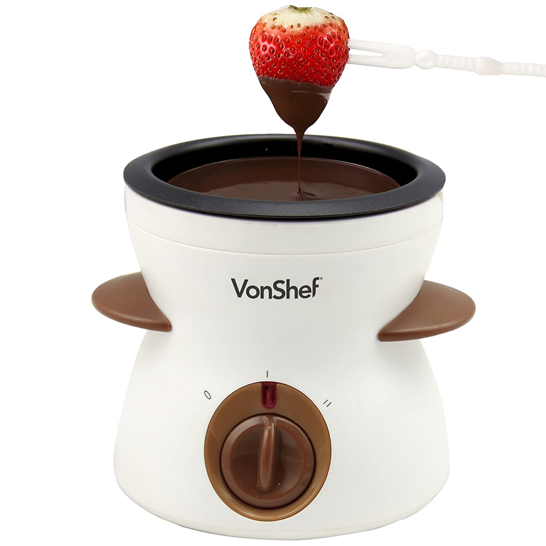 VonShef Electric Chocolate Fondue Melting Pot, Warmer, Chocolatier ...