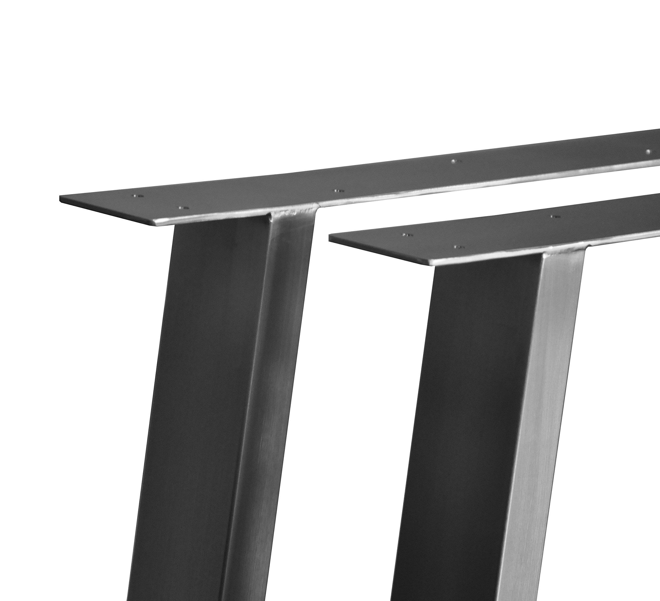 CHYRKA T-Tischgestell Edelstahl 201 60x30 Trapez Rahmentisch Kufengestell Tischkufe Tischuntergestell (720 x 500 mm - 1 Paar) 2