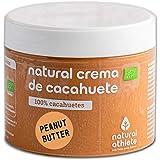 Natural Athlete Organisch-Biologische Pindakaas, 100% Pinda's, Suikervrij, Glutenvrij - 300 g