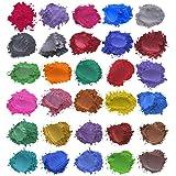 Mica Poeder 30 Kleuren Hars Pigment Zeep Kleurstof Natuurlijke Pigmenten Glitter Minerale Epoxyhars Voor Zeep Maken Bad Bom K