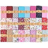 Ewtshop 25 diseños de tejido de algodón de 30 x 30 cm, almazuela, para coser