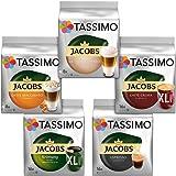 Tassimo Vielfaltspaket - 5 verschiedene Packungen kaffeehaltiger Getränke T Discs (1 x 927 g)