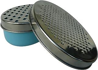IKEA CHOSIGT Reibeisen mit Behälter; in blau; aus Edelstahl