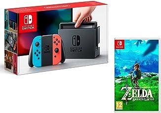 Nintendo Switch Konsole 32Gb Neon-Rot/Neon-Blau + The Legend of Zelda: Breath of the Wild