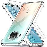 Ferilinso Funda para Xiaomi Mi 10T Lite 5G + 2 Piezas Cristal Templado Protector de Pantalla [Transparente TPU Carcasa] [10X