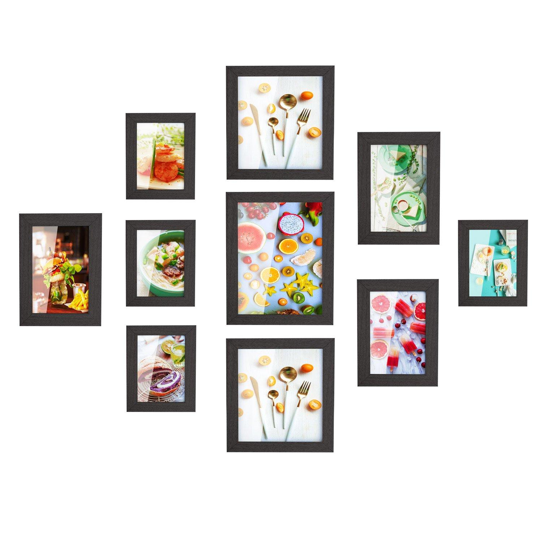 MVPOWER Bilderrahmen 10er Set Fotorahmen mit Bildabdeckung aus Glas ...