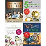 Together Memorable Meals Made Easy [Hardcover], 5 Simple Ingredients Slow Cooker, The Healthy Medic Food for Life Meals, Tast