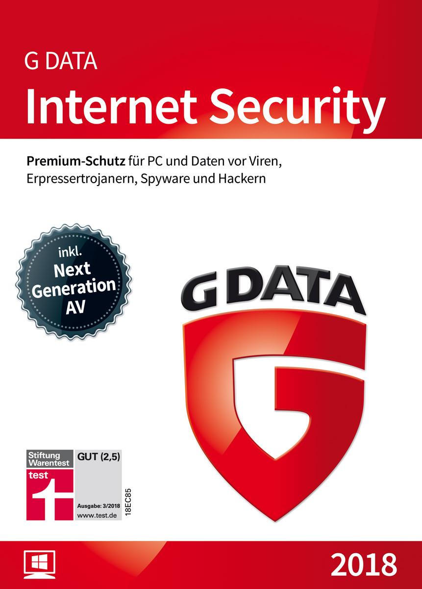G DATA Internet Security (2018) | Antivirus Software | Virenschutz für 1 Windows-PC | 1 Jahr [Download]