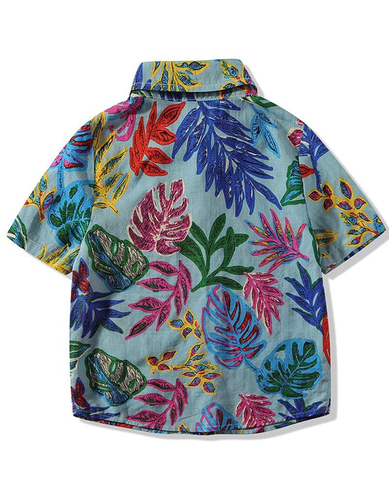 Camisa Estampada para Bebé Niños Camiseta Manga Corto Camisa De Imprimir Tops 2