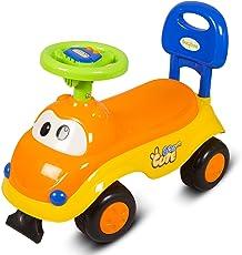 GoodLuck Baybee Boy's and Girl's Twist, Turn, Wiggle Ride on Push Car with Music (1-2 years, Yellow, KZ612AY)