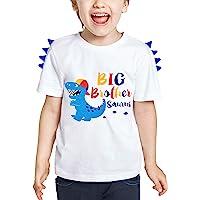 WAWSAM Grande Fratello Maglietta - Dinosauro Abiti da Fratello per Bambino Ragazzi