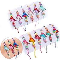 Tacobear 12 PCS Bracelet Amitié Bracelet Licorne Bijoux Enfants Fille Ajustable Faits à la Main Bracelet Tressé pour…