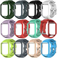 Voberry Replacet Silicone Band Strap for Tomtom Runner 2/3 Sport GPS Watch